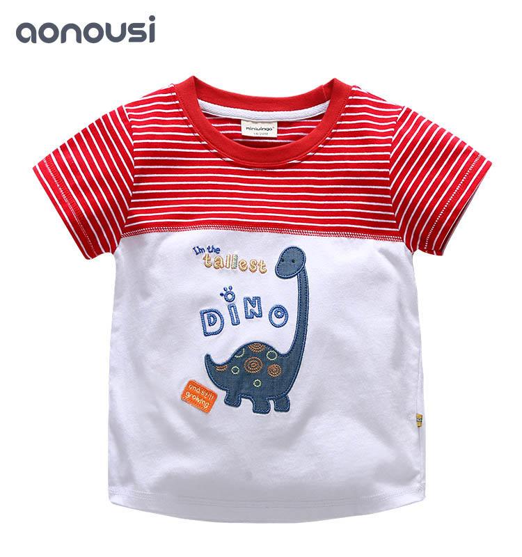 Summer New Boys Suit Boys Short Sleeve T-shirt wholesale children's boutique clothing 2019