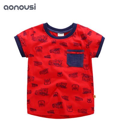 Summer 2019 New Boys Suit Boys Short Sleeve T-shirt wholesale children's boutique clothing