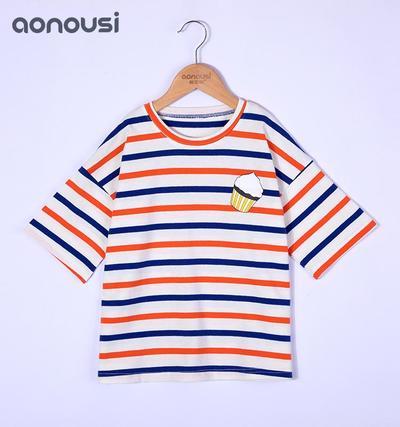 Girls Cotton t shirt design for girl of Summer Fashion Brand Children's Wear
