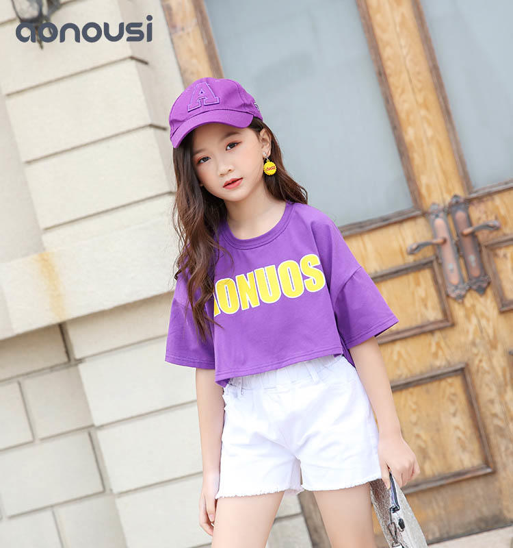 Girls Cotton T-shirts Wholesale of Summer Fashion Brand Children's Wear