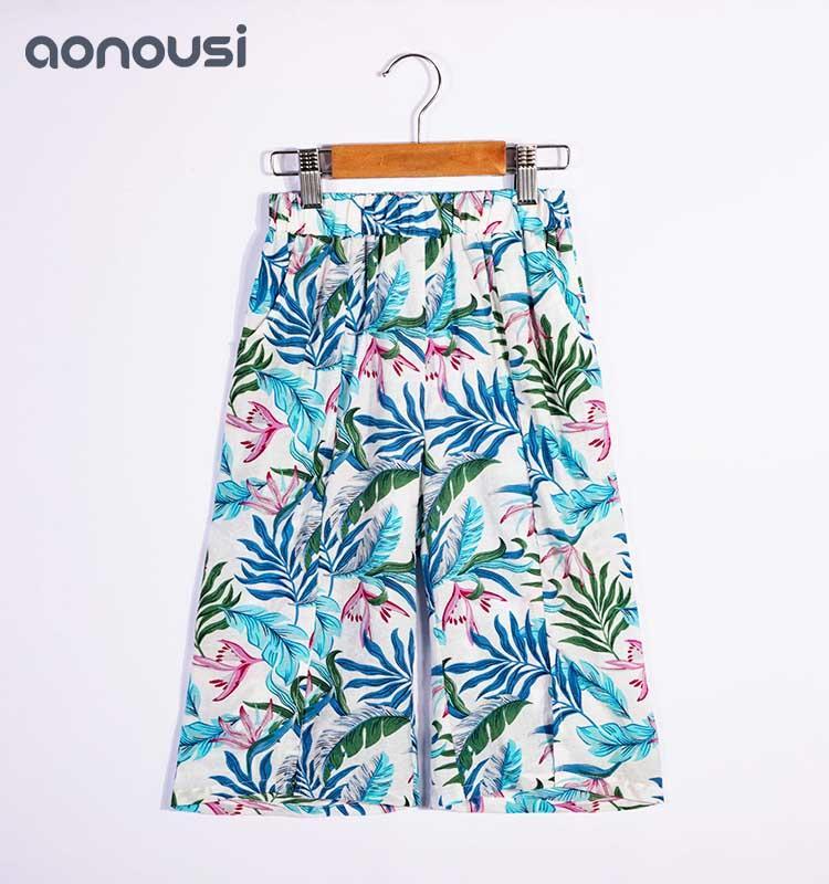 Girls Summer Pants Flowers Latest Design Fashion Pants
