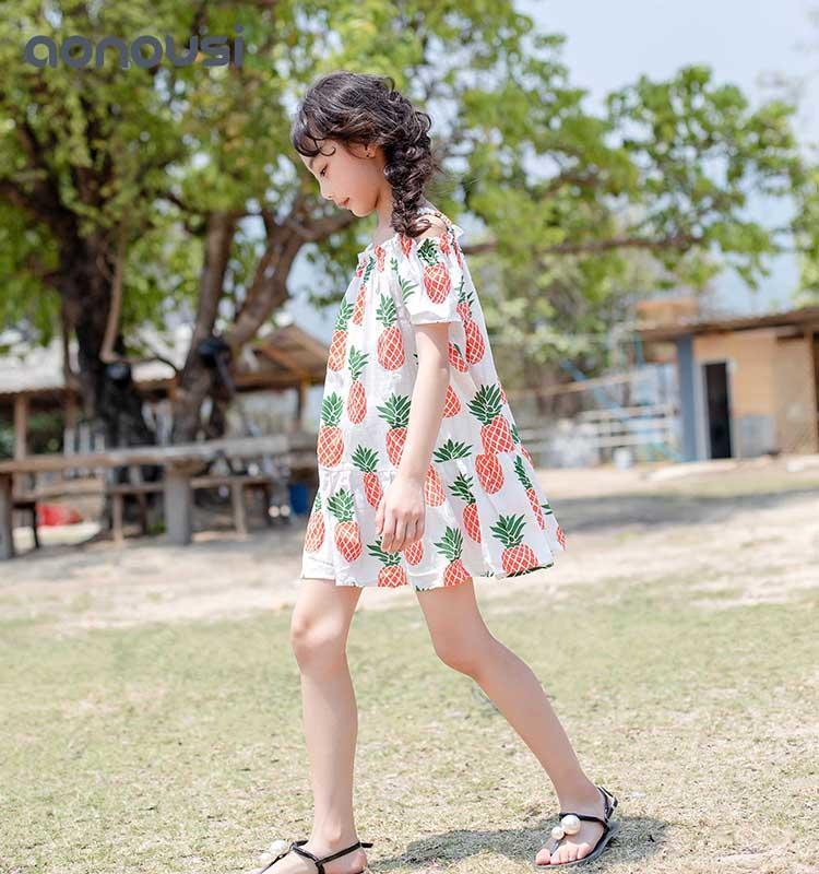 Kids Clothing Girls Summer Flower Dresses Bohemian  kids skirt dress Wholesale