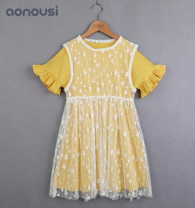 New Design Children'S Clothes Summer Bright Princess Skirt Lace And aby kids clothes Cotton Skirt