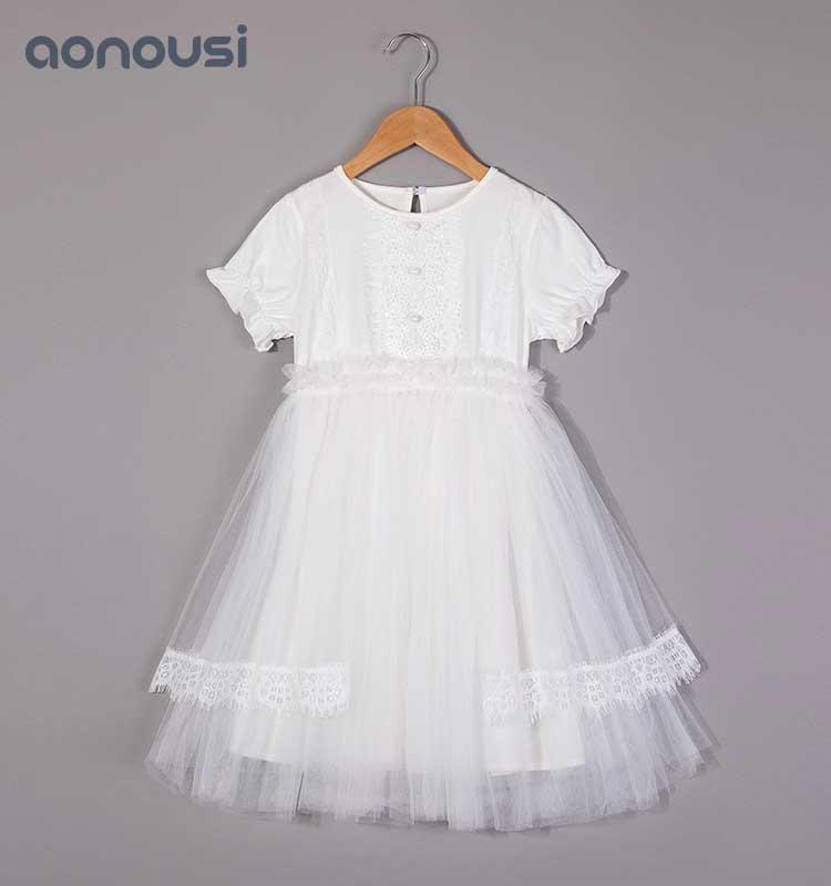 Girls lace dress&skirt,summer dress, children's waistcoat skirt, new Korean version of children's Princess skirt 2019