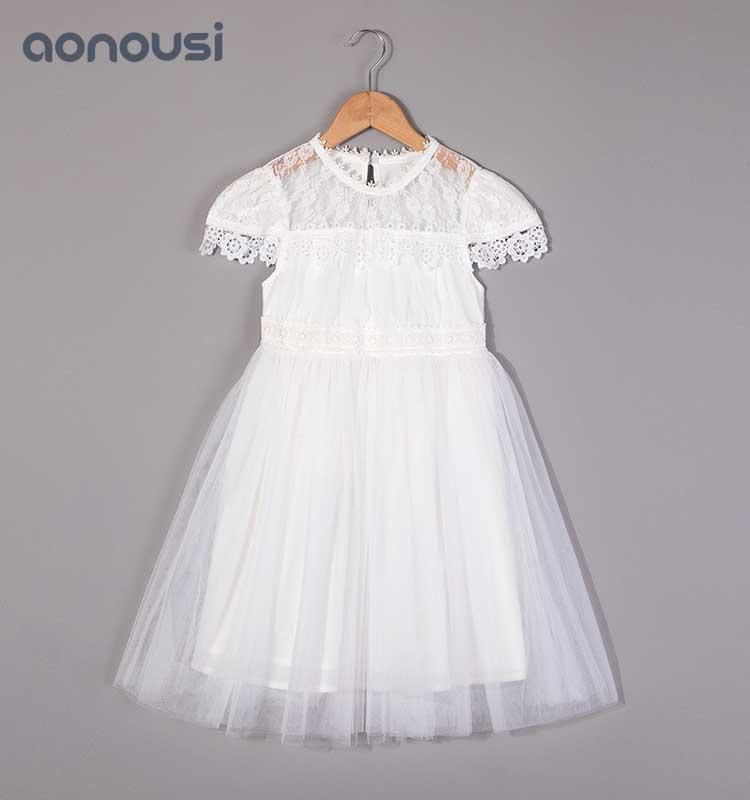 baby Girls lace dress summer dress, children's waistcoat skirt, new Korean version of children's boutique Princess skirt 2019