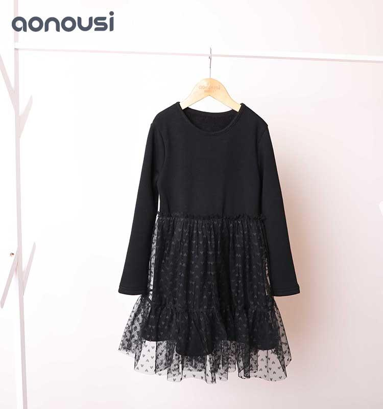 Children's clothes in autumn and winter fashion screen dresses wholesale skirt little girl