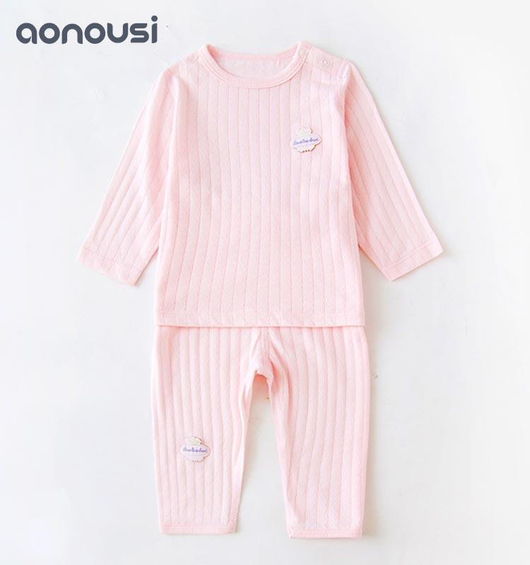 Autumn long-sleeved cotton baby clothing sets autumn and winter clothes for 0-3 year-old babies