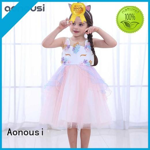 Aonousi high-quality baby girl occasion dress company for kids