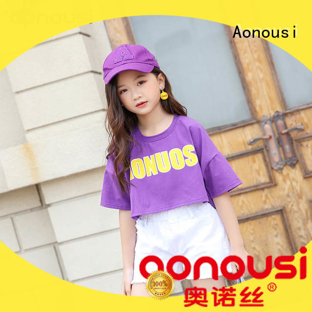 Aonousi cotton fancy shirts for girls directly sale for girls
