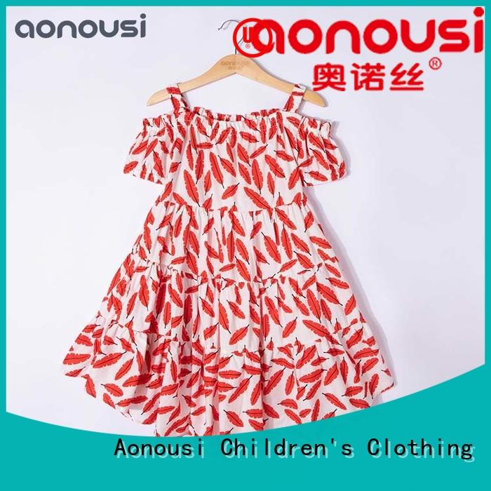 Aonousi high-quality girls kids dress Suppliers for kids