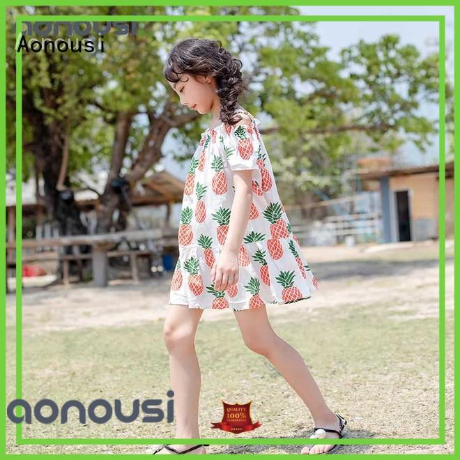 Aonousi hotselling girls skirt dress manufacturers for kids
