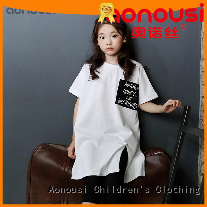 custom made children's clothing pink for kids Aonousi