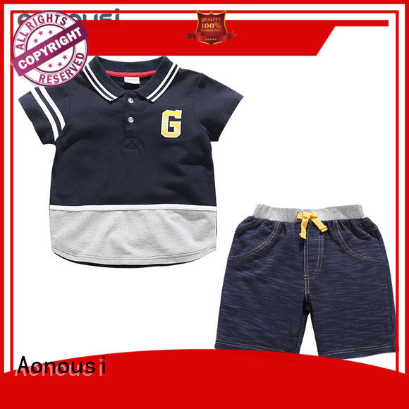 Wholesale toddler boy outfit sets tshirt factory for kids