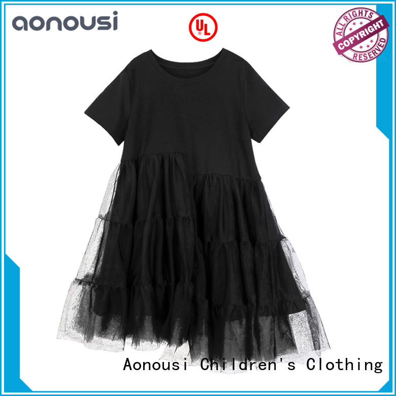 Aonousi high-quality little girl clothes apricot for girls