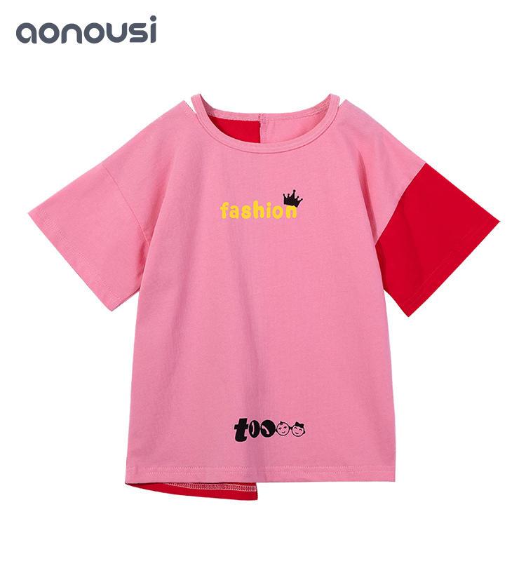kids clothing Girls Summer girls Clothes 2019 Fashionable girls t-shirt