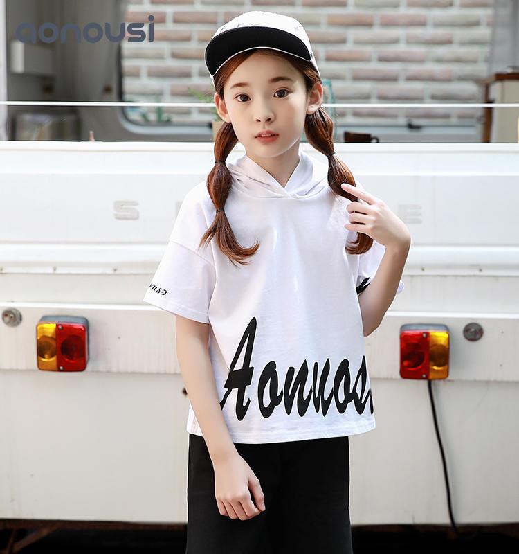Girls sets Summer sets 2019 New Korean Version of Children's T-shirt and Short-sleeved Short Pants Two-piece Suit kids tracksuit sets