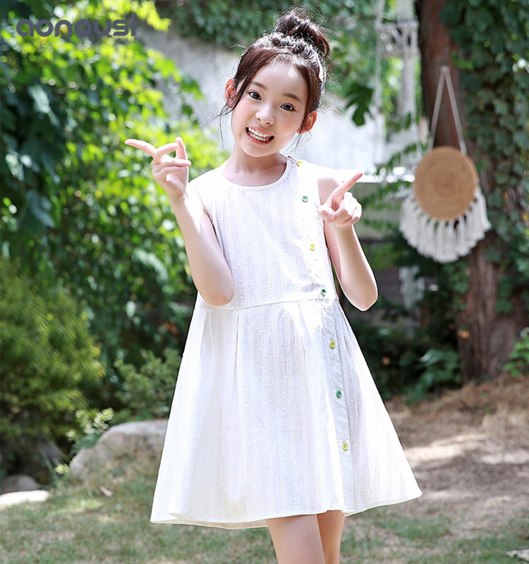 Summer Sleeveless Dresses 2019 girl dresses clothes 6 to 14 years wholesale children's boutique clothing