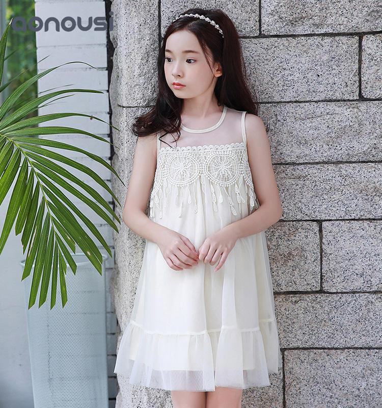kids clothing Best-Selling Girl Apricot Summer Sleeveless Princess Skirt For Kid
