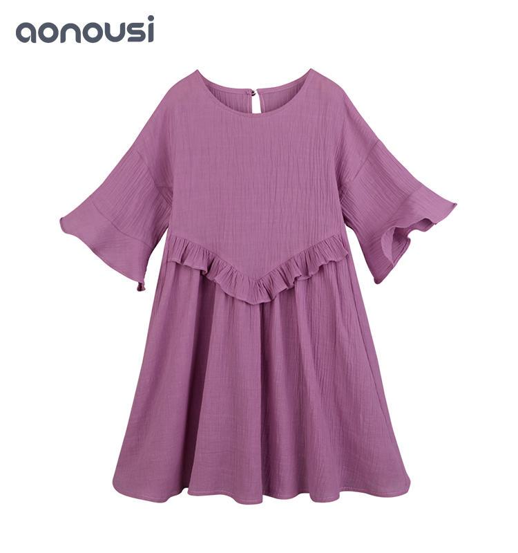 Girls dress summer new Korean children's wear short sleeve girls loose skirt trendy kids clothing