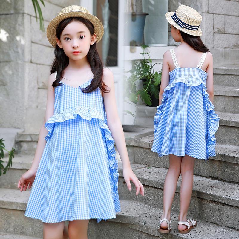 New Girls'Dresses in Summer of 2019 Leisure Fashion Korean Kids' Dresses little girl clothing