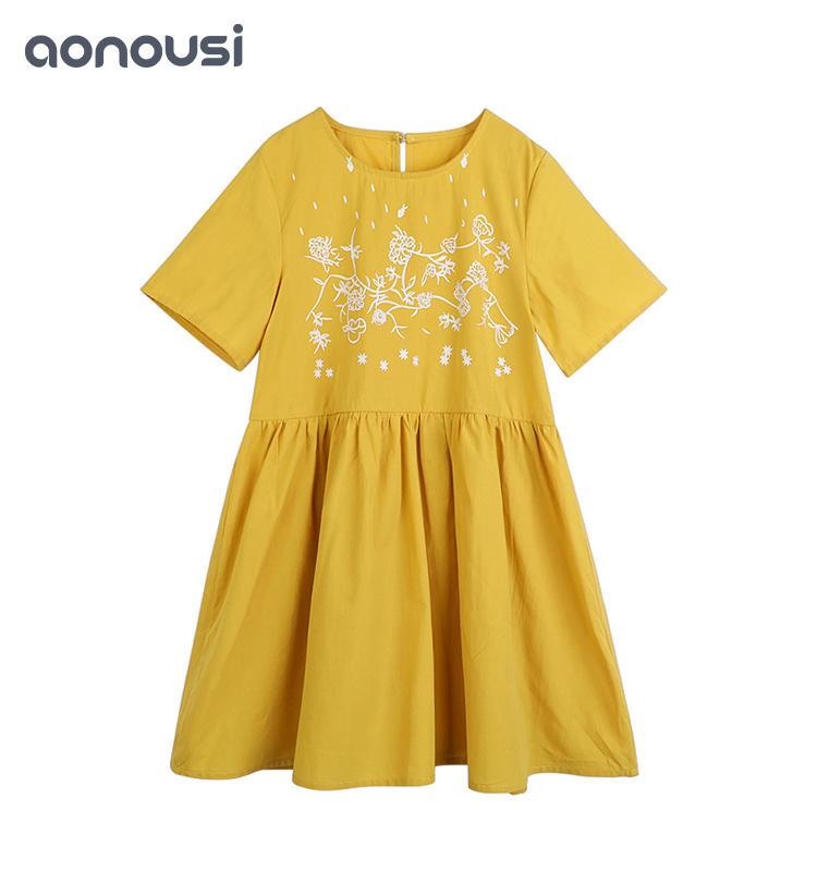 Girls dress spring and summer latest design Korean version of big girls dress&skirt  children's clothing