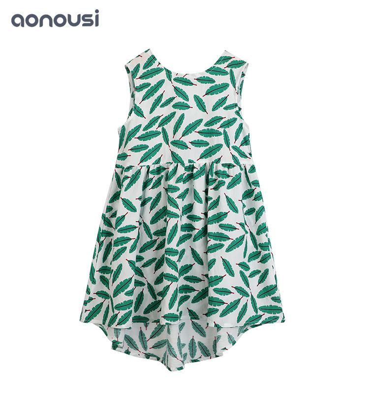 New summer children's wear baby girl dress Korean version floral Beach dress holiday skirt cheap kids clothing