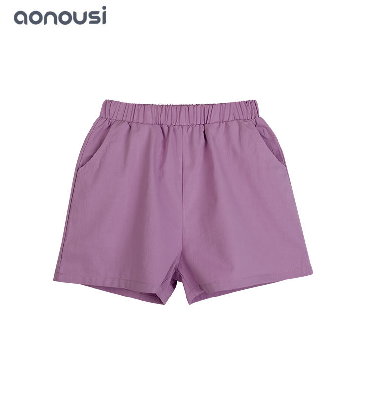 wholesale girls clothes  fashion  Korean version Cotton shorts girls purple short pants