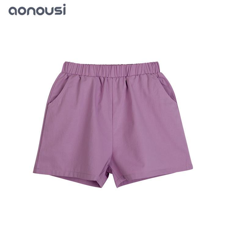 wholesale girls clothes  fashion  Korean version Cotton shorts girls purple short pants