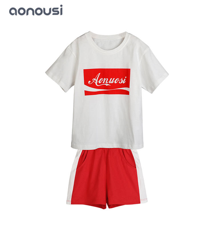 Girl's latest design Korean version of children's suits wholesale girls outfits Cotton Sports Style Girl suits
