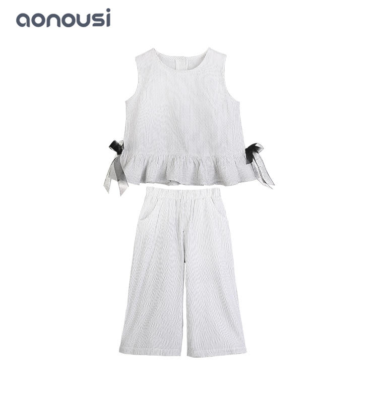 Girls' summer clothes 2019 new fashionable  children's two-piece wholesale girls outfits summer big children's clothes girls' summer suits