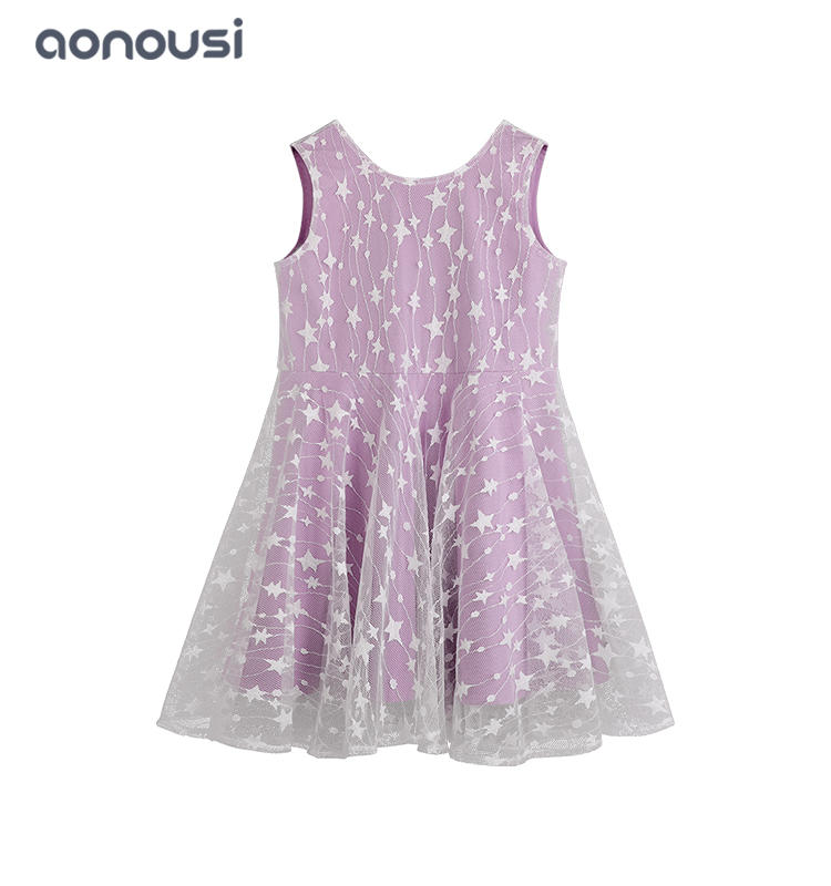 Girls dress 2019 new design lace tulle sling dress children princess dresses girls boutique wholesale girls summer Kids Clothing
