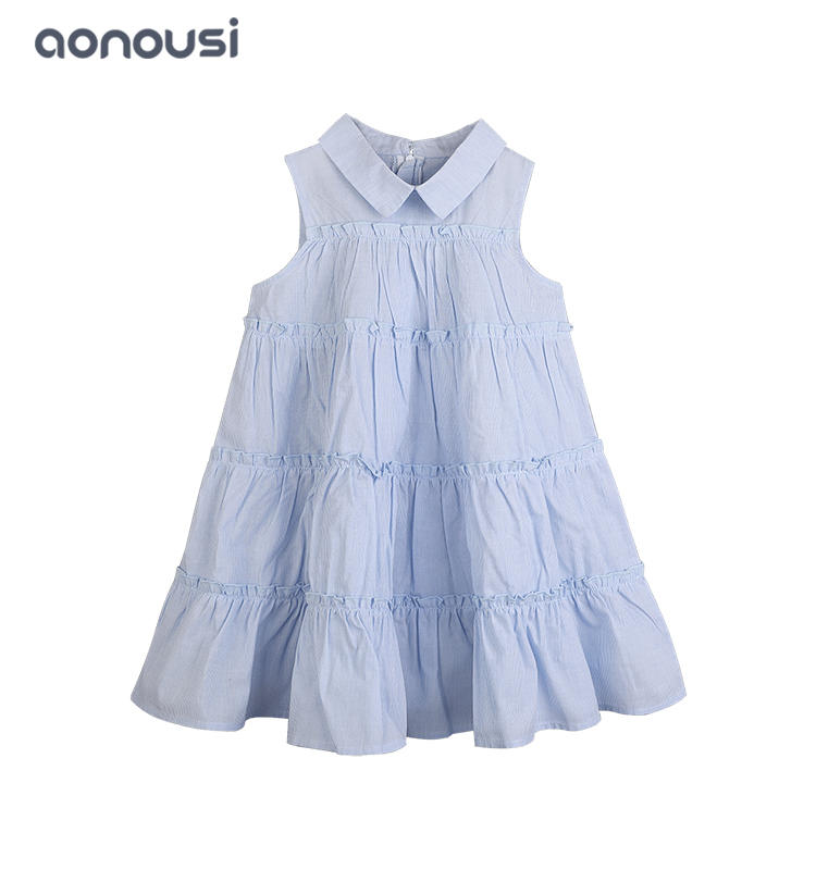 Kid children 2019 summer new style Korean cake dress girls boutique dresses wholesale