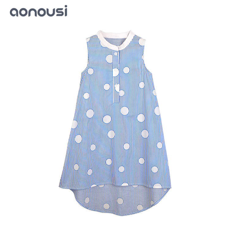 Princess dress striped polka dot skirt girls casual fashion loose dresses wholesale girls dresses