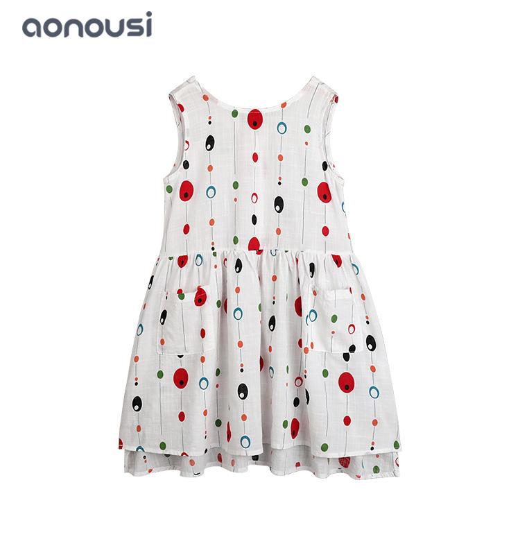 wholesale girls clothing suppliers summer girls cotton dresses designer girl color wave point skirt dresses