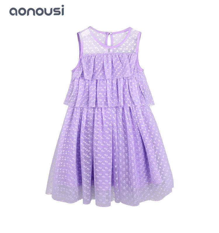 Children clothing girls lovely dresses summer 2019 new mesh cake dresses lace princess cake girls wholesale