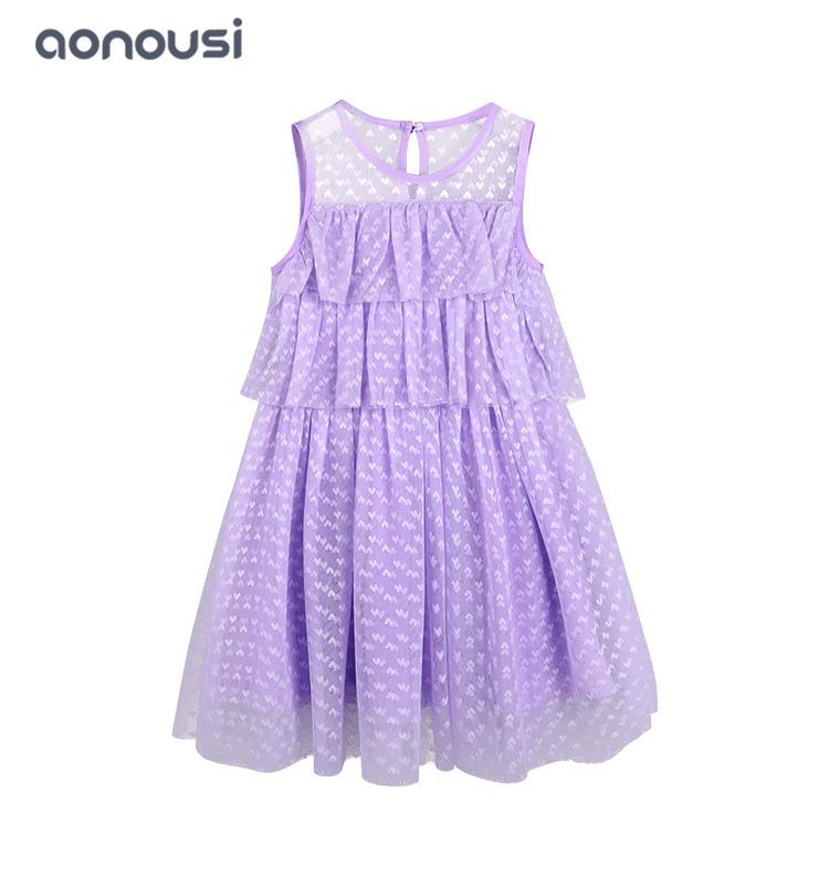 Children clothing girls lovely dresses summer 2019 new mesh cake dresses lace princess cake girls wholesale