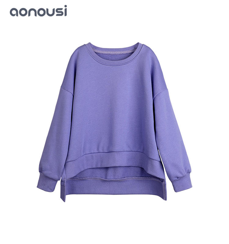 wholesale girls clothes Children Kids Warm Casual Sweatshirts Girls Plain Sweatshirt Jumper Crop Top