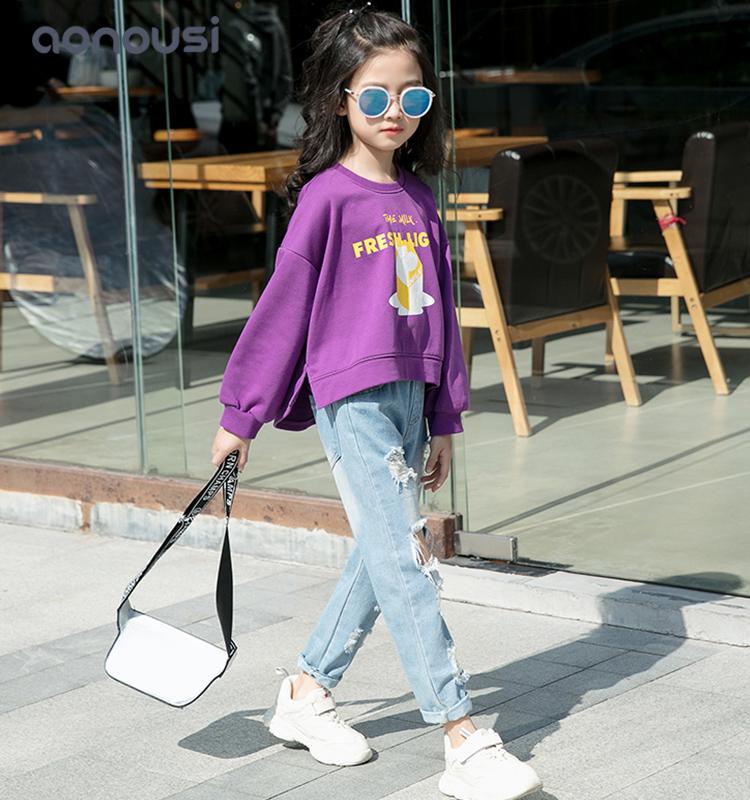 Children Clothes Casual Sweatshirt Girls Long Sleeve kids Tops Tees Girls Hoodies china wholesale gi