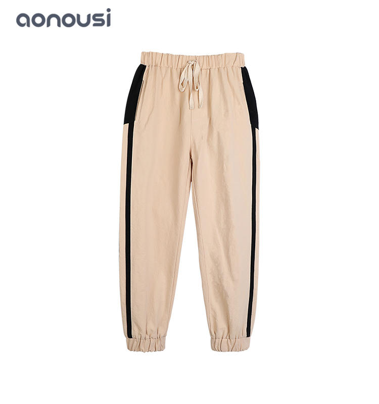 wholesale girls fashion sport pants thin hip hop loose pants kid girls striped causal pants