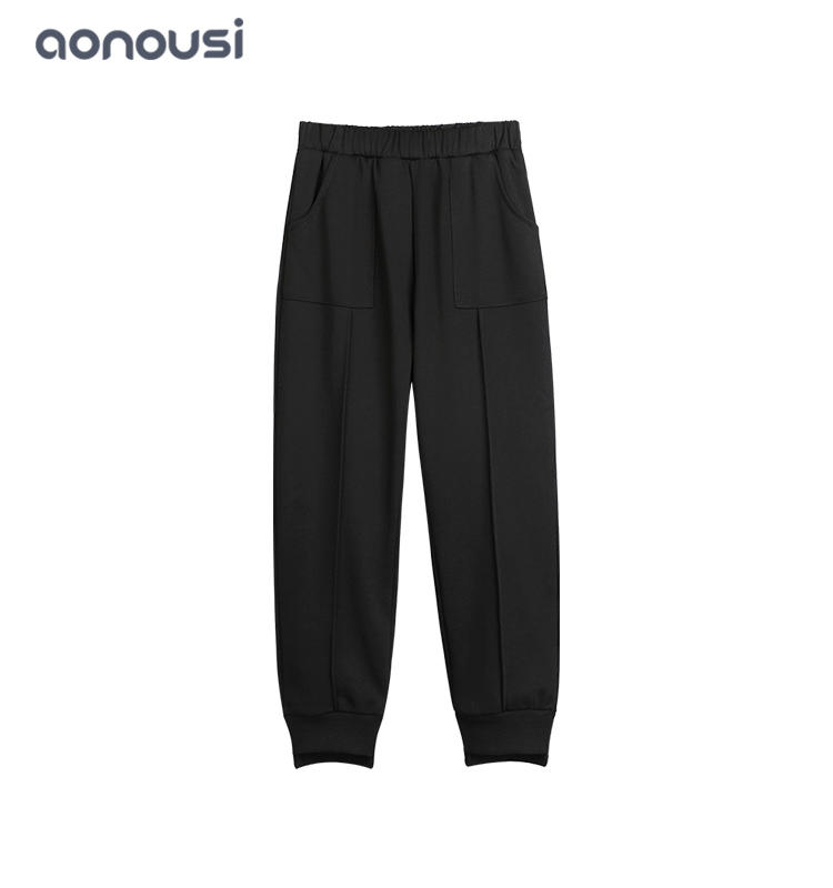 Spring Autumn new style pants children Korean version black warm pants china wholesale girls clothing