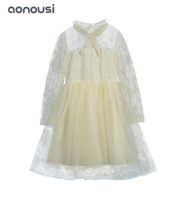 Children clothes 2019 new design girls fall winter dresses Autumn temperament  gown girls boutique dresses wholesale