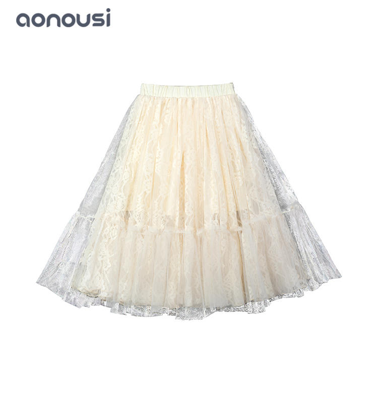 wholesale girls fashion dresses 2019 new design skirt Autumn Winter lace dresses