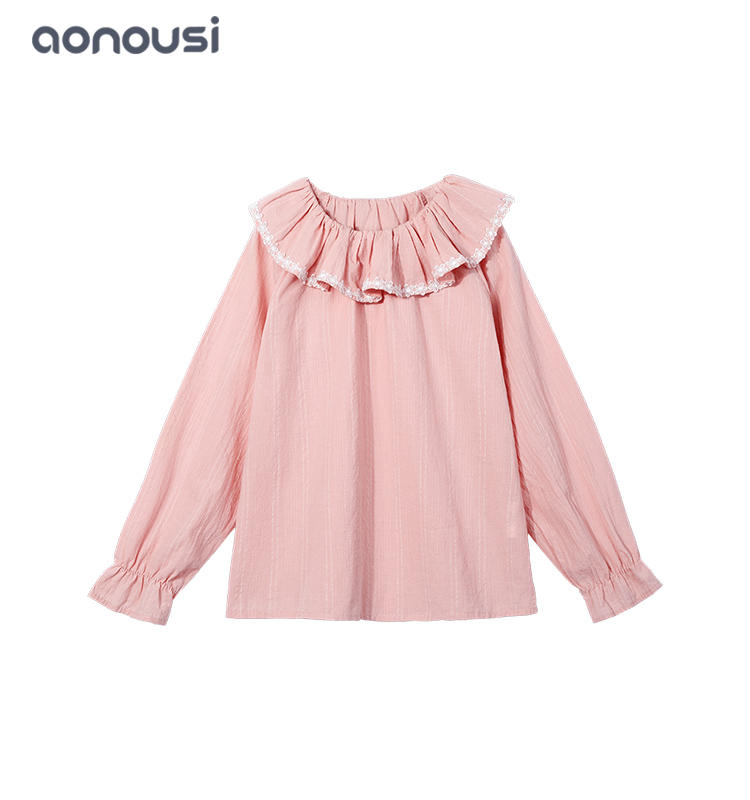 Kids clothes t shirt 2019 Autumn winter Korean version lovely style long sleeves t shirt wholesale girls t shirts