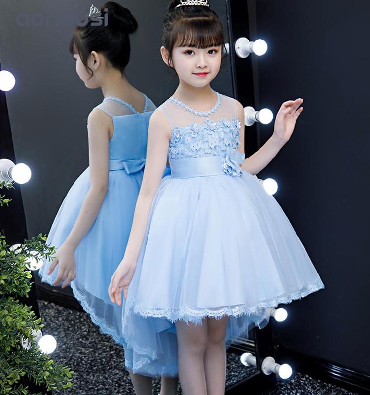 wholesale girls clothes princess dresses bubble lace skirt high-end evening dresses