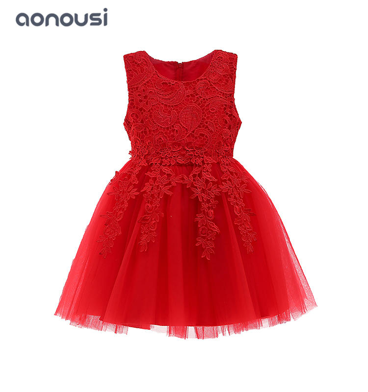 wholesale girls dresses 2019 summer new style lovely kids lace dresses sleeveless evening dresses