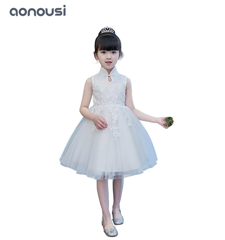 wholesale girls dresses high-end piano performance catwalk lace evening dresses