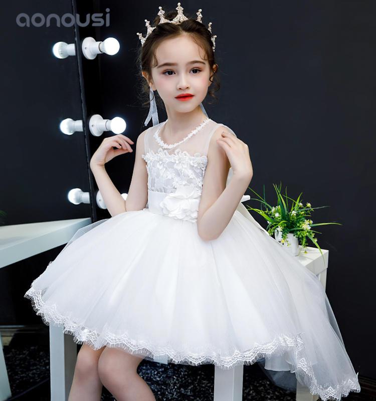 2019 new design princess dresses gauze trailing skirt party dresses dramatic play evening dresses girls wholesale