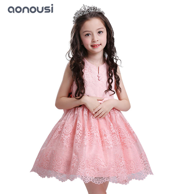 Princess dresses girls kids bubble lace party children evening dresses Flower chair girls boutique dresses wholesale