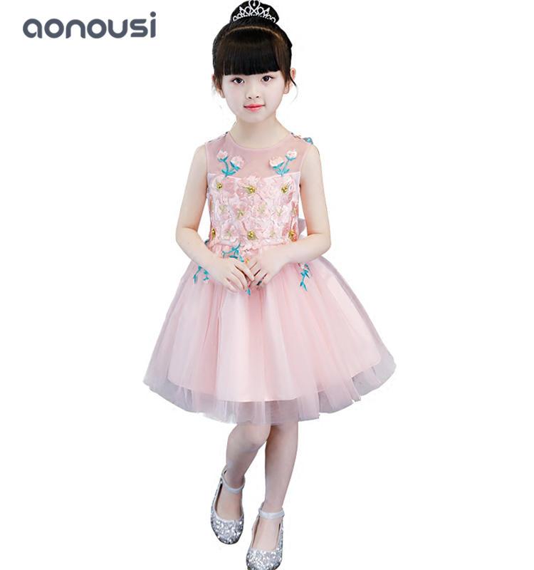 2019 girls princess dresses wedding flower evening dresses wholesale girls summer dresses
