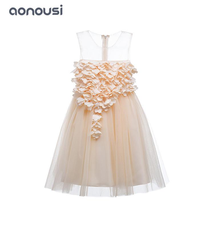 Kids evening dresses princess dresses bubble piano performance catwalk show high-end dresses girls wholesale